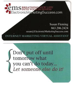 Susan Fleming Business Card