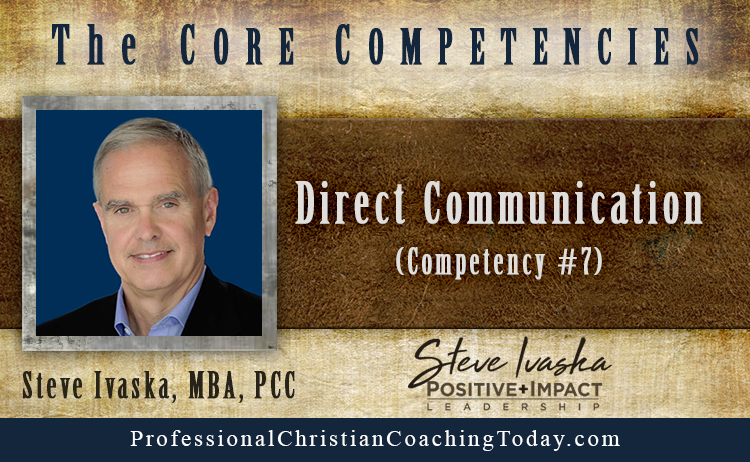 Direct Communication (ICF Competency #7)