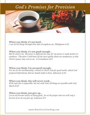 No More Needy, Greedy Marketing | Free Printable of God's Promises